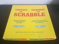 Scrabble Vintage 1973 Turntable