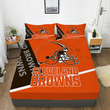 Cleveland Browns Pocket Sheet 3PCS Fitted Sheets & Pillowcase Bedding Sets