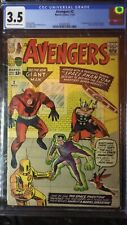 AVENGERS #2 - 1963 comic book - original owner CGC graded  3.5 - VG - nice