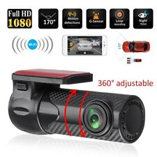 WiFi Caméra de Voiture Dashcam 1080P Embarquée Dashboard G-capteur Nuit Vision