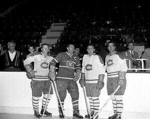 Maurice Richard,Claude Provost, Bernard Geoffrion Canadiens 8x10 Photo