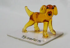 Lab the retriever show dog Tynies Tiny Glass Figure Figurines Collectibles 0060
