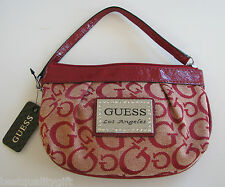 NEW GUESS MARCIANO RED TALUCA JAQUARD WRISTLET,WALLET,CLUTCH BAG