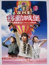 "S.H.E. "" PERFECT 3 WORLD TOUR"" HONG KONG PROMO POSTER-Taiwan Mandopop Girl Group"