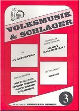 Volksmusik und Schlager Band 3 : für Akkordeon (Keyboard, Klavier,Text)