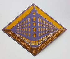 Grand Hotel & Tivollier Toulouse France antique vintage hotel luggage label