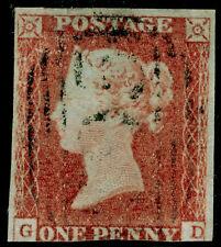 Sg8, 1d rojo-pardo placa 101, bien usado. Cat GD £ 35.