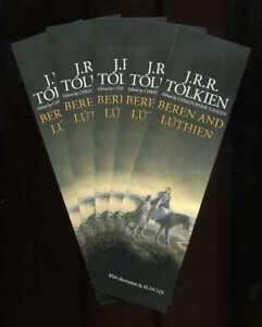 J.R.R. Tolkien - Beren and Luthien - Five original bookmarks