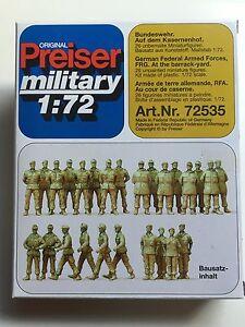 Preiser 72535 1:72 military; Bundeswehr. Auf de