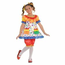 Girls Clown Costume Child Circus Deluxe Fancy Dress Outfit New 4-6yrs Book Day