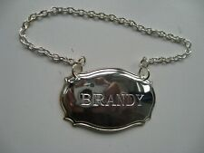 Silver plated BRANDY Decanter Label