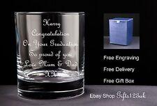 Personalizzato 10oz WHISKY/Spirito di vetro, laurea regalo