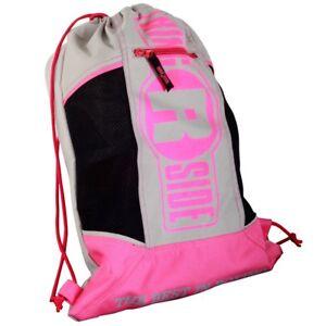 Ringside Cinch Sack Backpack Gear Gym Equipment Gloves Carry Bag - Pink / Grey