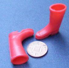 1:12th Conjunto de Rojo Wellington Botas Casa De Muñecas Accesorio De Jardín Hadas Wellies