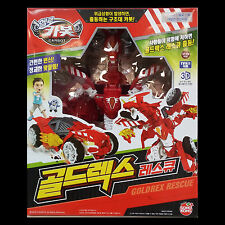Hello Carbot Gold Rex Rescue Transformer Transforming Red Dragon Robot Car Toy