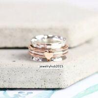 925 Sterling Silver Ring Spinner Ring Meditation statement Handmade Ring sr52