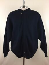 St-Michael Sea breeze Dark Blue knit Wool Cardigan Sweater Mens Size XL Italy