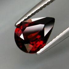 2.03 Cts Natural Rare TANZANIA Unheated Red ZIRCON Jewelry Setting Pear Cut