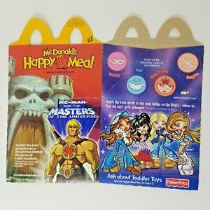 Vintage Masters of the Universe McDonald's Happy Meal Box MOTU He-Man Bratz RARE