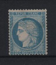 """FRANCE STAMP TIMBRE N° 37 """" CERES 20c BLEU SIEGE DE PARIS 1870 """" NEUF x TB  R808"""