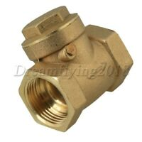 """3/4"""" BSPP Swing Check Valve Prevent Water Backflow Brass Two-way Type"""