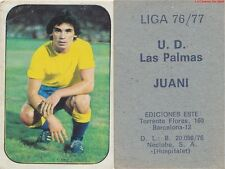 JUAN JOSE CASTILLO BARRE JUANI ESPANA UD.LAS PALMAS CARD TARJETA ESTE LIGA 1977