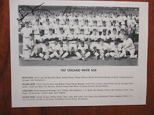 1967  Chicago  White  Sox Team Picture (Signed by Steve Jones)8 1/2 x 11   B & W