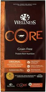 Wellness Core Grain Free Turkey & Chiken Dry Dog Food - 26 Pound Bag