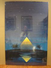 vintage Mystic Pyramid 2001 poster night sky stars   5059