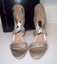 Steven By Steve Madden Womens Ney Leather Metallic Evening Heels Shoes Sz 7