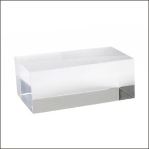 Optical Display - d7.CLR - Large Rectangular Acrylic Block in Clear