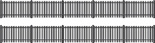 Ratio 422 OO Gauge GWR Station Fencing (Black)