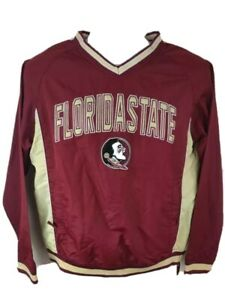 Florida State Seminoles Colosseum Boys Jacket Red Pullover Embroidered V Neck L