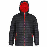 Mens Padded Jacket Coat Quilted Puffer Hooded Bubble Neck Zip Down Winter Camo