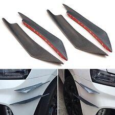 4X KFZ Auto Front Bumper Stoßstange Flaps Splitter Spoiler Lip Flügel Canards