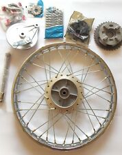 Honda Cub Motorcycle Complete Front & Rear Wheel 1.40 1.20 ALL PARTS PLEASE READ