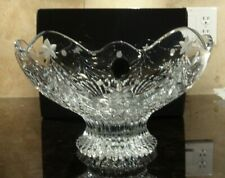 """*NEW* Waterford Crystal CHRISTMAS NIGHT Scalloped Centerpiece Bowl 10"""" NIB"""