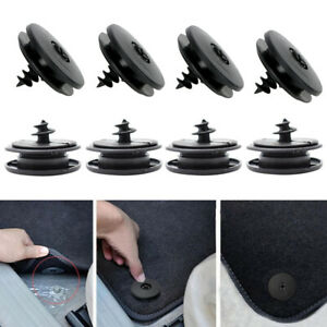 10x Car Carpet Mat Clips Fixing Grips Clamps Floor Holders Sleeves Black Parts