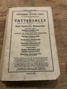 Tattersalls Newmarket Autumn Sales 1973