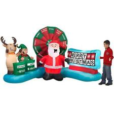 9 ft Gemmy Lighted Christmas Wheel Spin Game Airblown Animated Inflatable