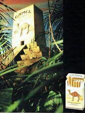 PUBLICITE ADVERTISING 017  1990  Camel  cigarettes Turkish blend