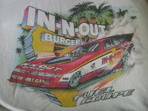 Dale Pulde Over The Hill Gang In-N-Out Burger Cutlass Nitro Funny Car Shirt XL