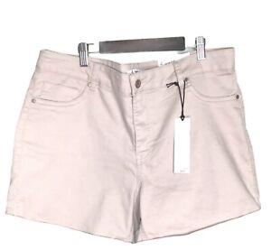 """D.JEANS NEW YORK MODERN FIT Women's High Waist Stretch Short 16"""" Khaki"""