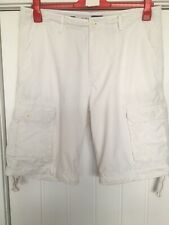 Easy Mens Cargo Off White Shorts Size 36