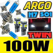 H7 XENON WHITE 100W MAIN DIPPED BEAM HEADLIGHT HEADLAMP 501 SMD SIDELIGHT BULBS