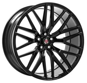 "20"" Axe EX30 Alloy Wheels 5x120 WIDER REAR Gloss Black fit VW Transporter T5 T6"