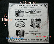 Thomas Crapper repro vintage metal advertising Sign Basin, Valve Closet, Waste
