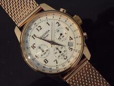 Gents Sekonda Classique Placcata in Oro Rosa Orologio Cronografo in mesh bracelet.