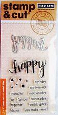 Happy Hero Arts Clear Stamp & Cut Thin Metal Die Set DC150 NEW!