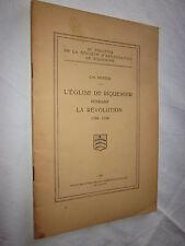 ALSACE: L'EGLISE DE RIQUEWIHR PENDANT LA REVOLUTION  1926
